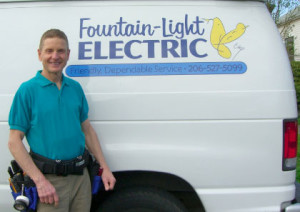 fountain-light electric services Seattle, Washington
